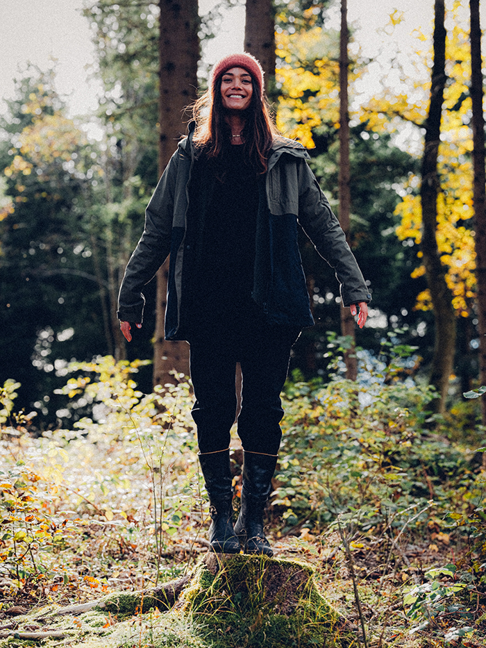 natural biodegradable jacket outerwear fashion sustainable clothing women girls